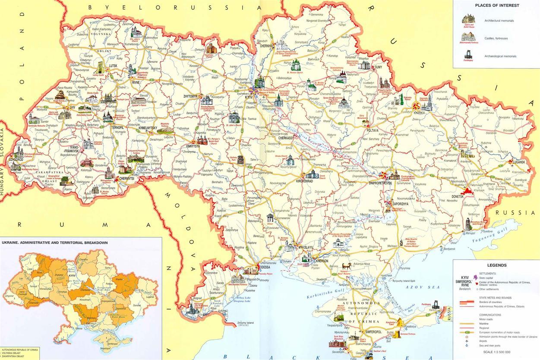 Mapa Ukrajiny Pro Cestovatele My A Ukrajina