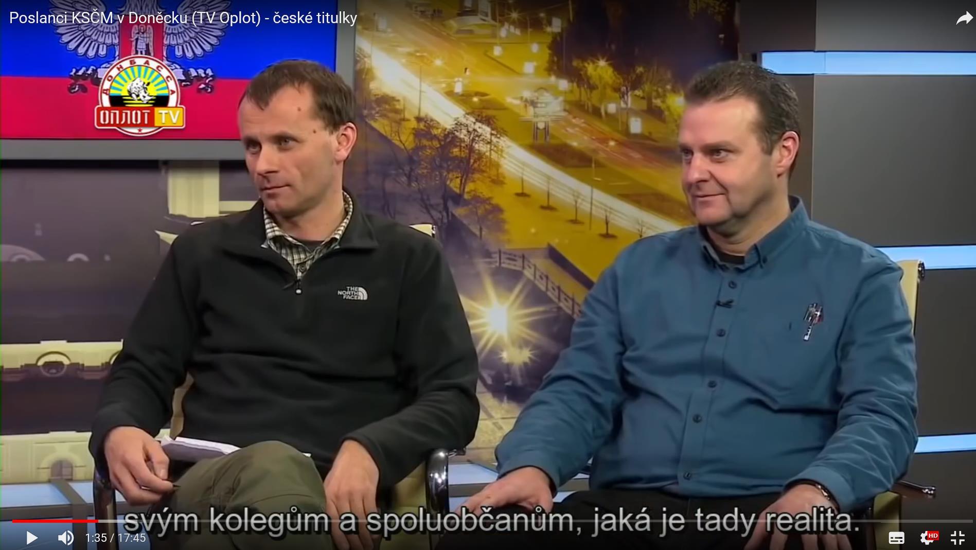 Mackovík a Ondráček v TV Oplot